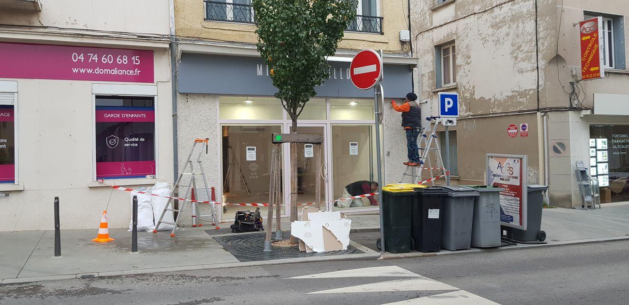 Le comptoir du Brassin-Conception avec facade avant travaux Laps Agencement
