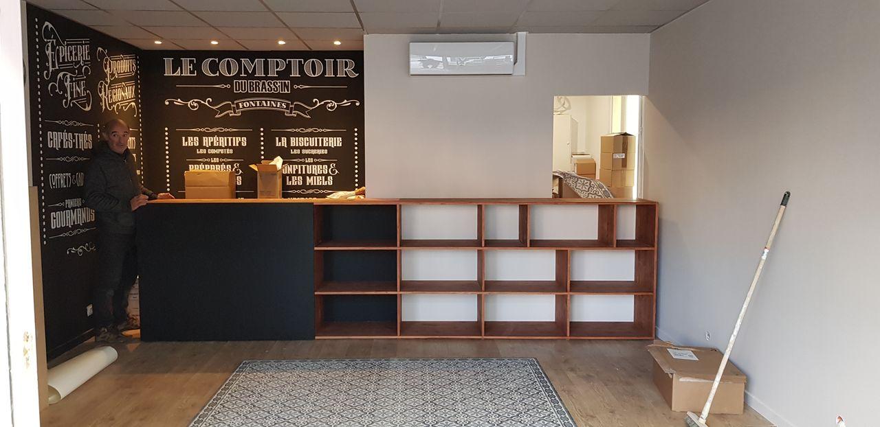 Le comptoir du Brassin-Installation-Laps Agencement
