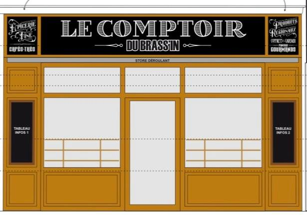 Le comptoir du Brassin Plan de base par Laps Agencement