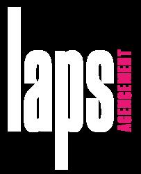 Logo Laps Agencement Blanc et rose
